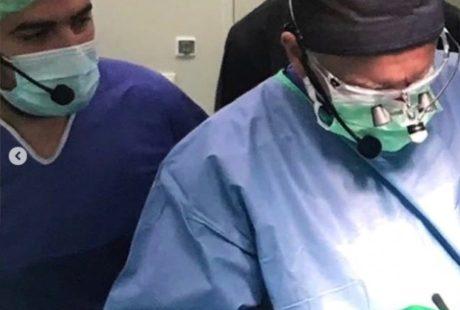 Вторичная риносептопластика, выполняет профессор Вольфганг Губиш, модератор пластический хирург Аганесов Г. А.