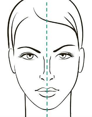 Нормальная спинка носа, симметричная относительно вертикальной линии лица, сайт пластического хирурга Аганесова Г. А.