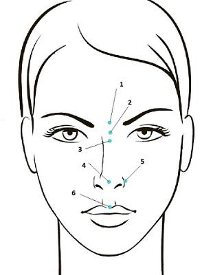 Оценка пропорций носа в прямой проекции, точки фиксации, сайт пластического хирурга Г. А. Аганесова